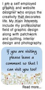 graphic design, graphic portfolio, patchwork quilting design, website design